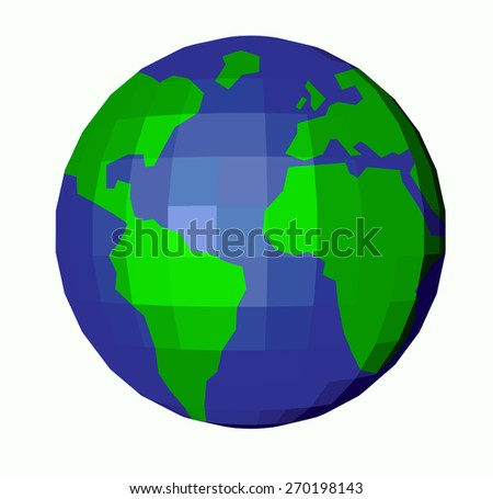 abstract globe planet vector on white background - stock vector
