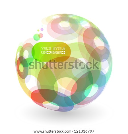 Abstract globe set. Vector illustration. - stock vector