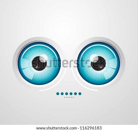 Abstract glossy eye background - stock vector