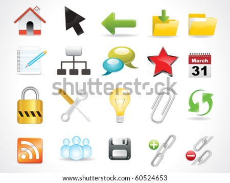 abstract glossy web icon vector illustration - stock vector