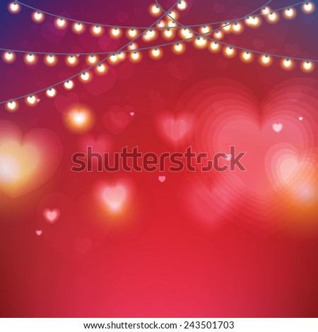 Abstract Glow Soft Hearts for Valentines Day Background Design. Vector Illustration. - stock vector