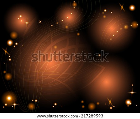 Abstract glowing background with shiny elements - stock vector
