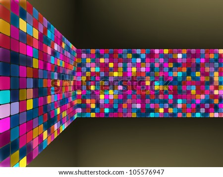 Abstract glowing illustration background. EPS 8 vector file incl - stock vector