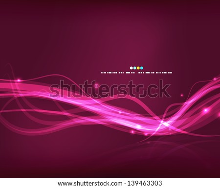 Abstract glowing lines - stock vector
