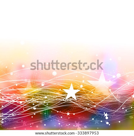 Abstract glowing lines of light with rainbow colors background. - stock vector