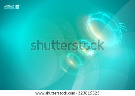 abstract glowing shapes on a background of aqua. Design concept. Vector Illustration, eps10, contains transparencies. - stock vector