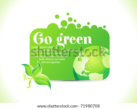 abstract go green icon vector illustration - stock vector
