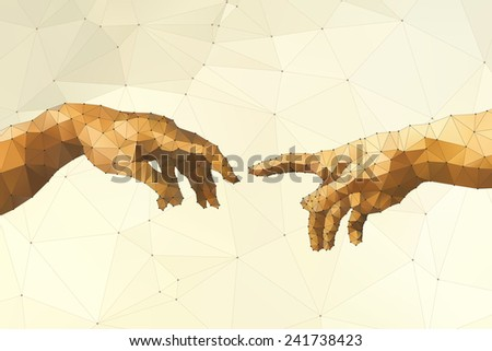 Abstract God's hand vector illustration - stock vector