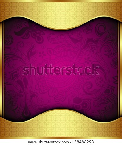 Gold Background Floral Purple Stock Photos, Images ...