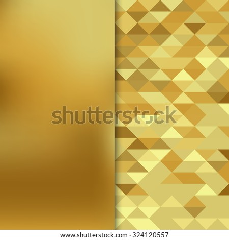 Abstract gold banner. Gold geometric background. Vector illustration EPS10 - stock vector