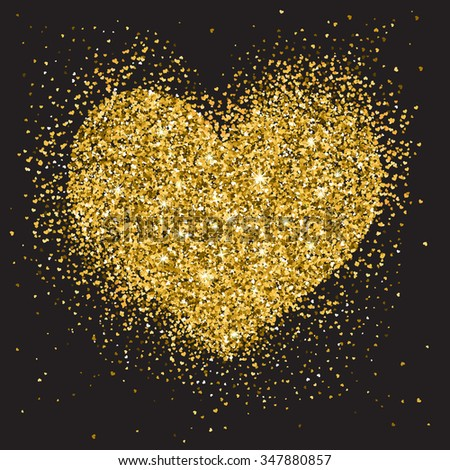 Abstract gold glitter background for the card, invitation, brochure, banner, web design. - stock vector