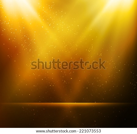 Abstract gold light background - stock vector
