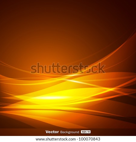 Abstract gold wave background design, vector illustration - stock vector
