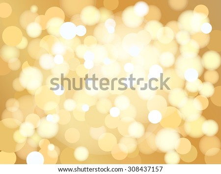 Abstract golden dotted background, vector - stock vector