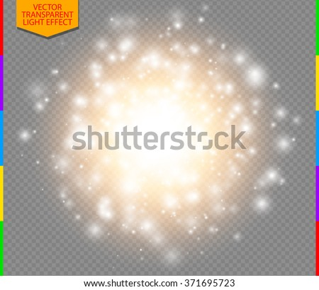 Abstract golden explosion with white sparks modern design. Glow star burst or firework light effect. Sparkles light vector transparent background. Christmas Concept. Flash flare or sparkler - stock vector