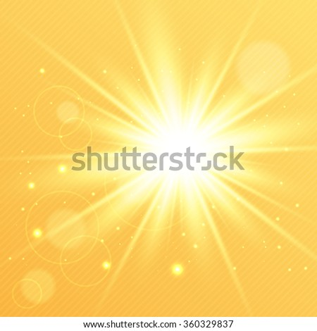 Abstract golden magic light background for your design - stock vector