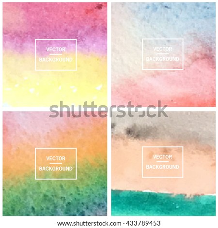 Abstract gradient set colorful blurred vector background.  - stock vector