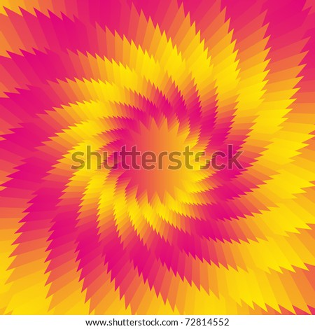 Abstract gradient vector flower background - stock vector