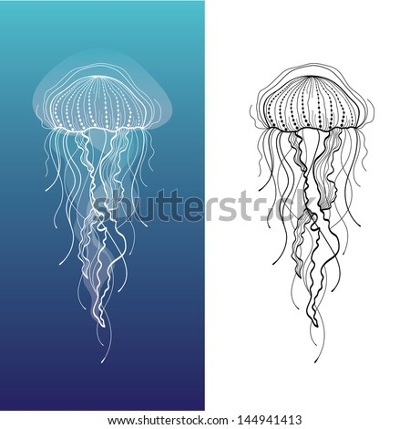 Vintage jellyfish illustration - photo#23