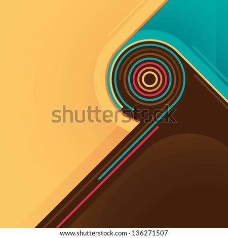 Abstract graphic. Vector illustration. - stock vector
