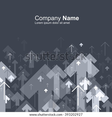 Abstract gray arrows up motion background. Good for financial annual cover design, brochures, booklets etc. - stock vector