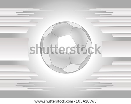 Abstract gray football background - stock vector
