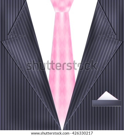 abstract gray suit - stock vector