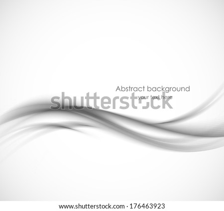 Abstract gray wavy background - stock vector
