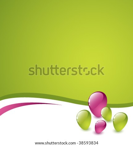 Abstract green and purple vector background with colorful stones 2 - stock vector