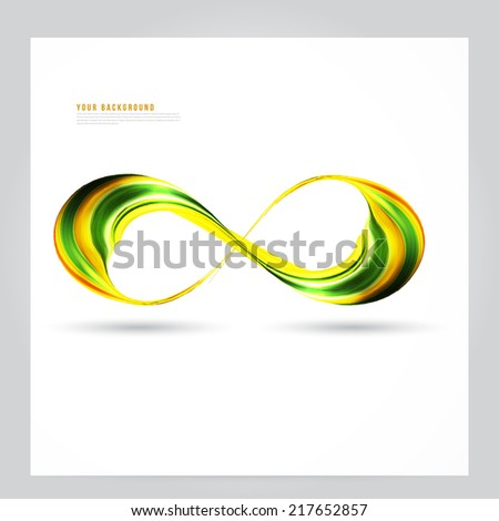 Abstract green background futuristic wavy vector illustration eps10. Business wave corporate background, flyer, brochure design template - stock vector