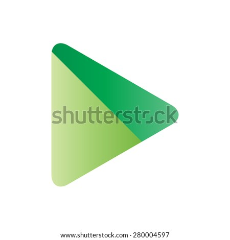 Abstract green background. Logo design. White background  - stock vector
