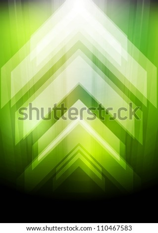 Abstract green background with arrows. Eps 10 vector - stock vector