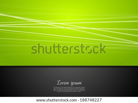 Abstract green background with smooth lines - stock vector