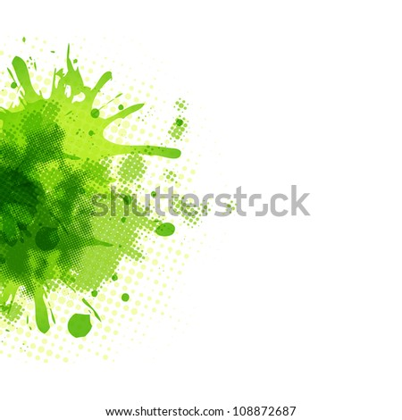 Abstract Green Blob, Isolated On White Background, Vector Illustration - stock vector