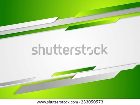 Abstract green corporate background. Vector design - stock vector
