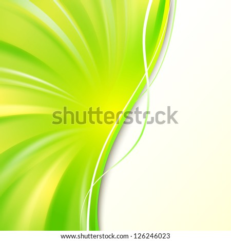 Abstract green cover with smooth lines. Vector background, eps 10, contains transparencies. - stock vector
