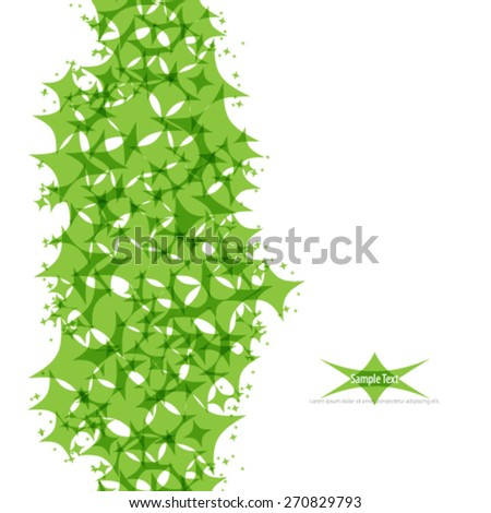 Abstract Green Diamond Shapes Background - stock vector