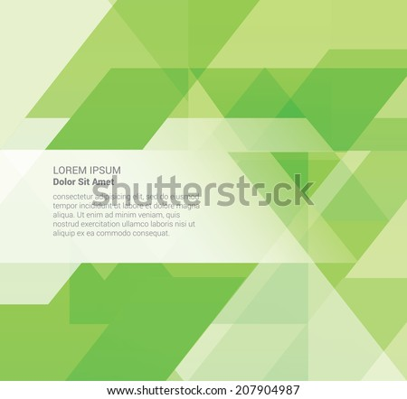 Abstract green Geometrical Design  - stock vector