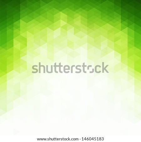Abstract green light background - stock vector