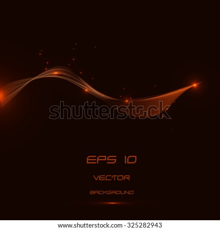 Abstract green  lines background and neon light, vector - stock vector