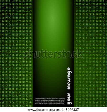 Abstract green mosaic holiday background - stock vector