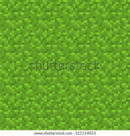 abstract green pixelated pattern, seamless texture background - stock vector