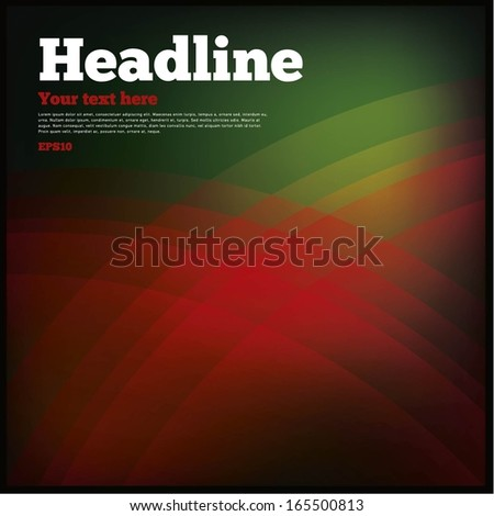 Abstract green & red background - stock vector