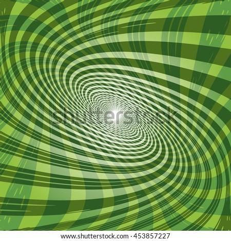 Abstract green spiral vector illustration. - stock vector