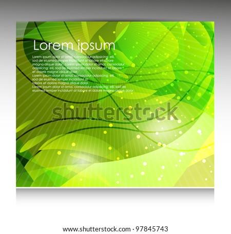 abstract green template - stock vector