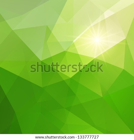 Abstract green triangle background, vector illustration eps10 - stock vector