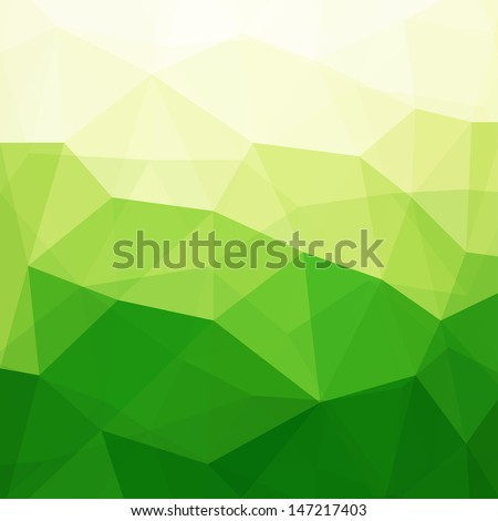 Abstract Green Triangle Background, Vector Illustration EPS10, Contains Transparent Objects - stock vector