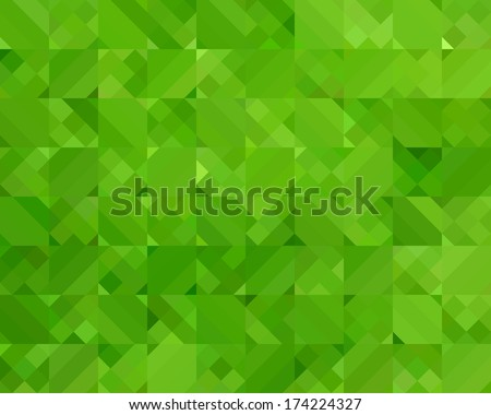 Abstract Green Triangle Geometrical Background, Vector Illustration - stock vector