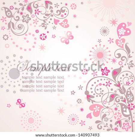 Abstract greeting card - stock vector