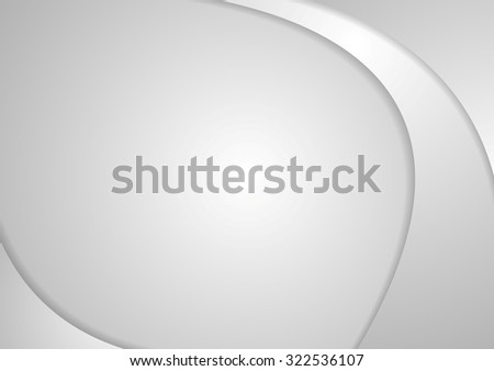 Abstract grey corporate waves. Vector background - stock vector